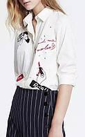 Стильная белая рубашка , фото 1