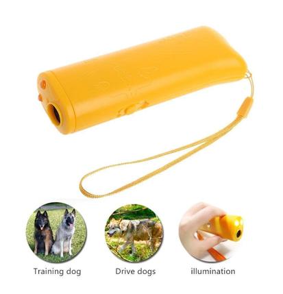 Ультразвуковий відлякувач собак c ліхтариком і функцією тренування ефективний захист від собак, фото 2
