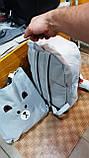 Дитячий комплект: рюкзак+сумка+2 косметички (3цветаМ)27х37см, фото 3