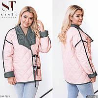 Женская двусторонняя куртка с синтепоном. Большие размеры.