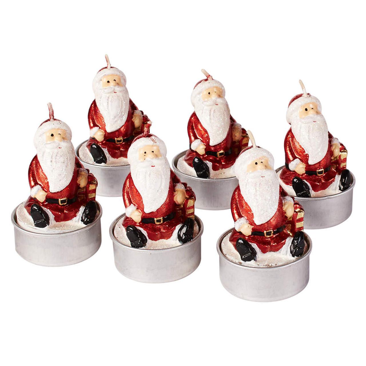 """Набор свечей новогодних 6шт """"Санта Клаус"""" Melinera 311"""