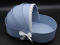 Коробки для цветов. Цвет голубой. 33х18см