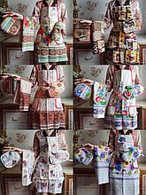 Кухонный набор из Льна  Прихватка Рукавичка , Фартук , Полотенце