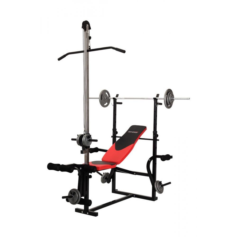 Тренировочная скамья HS-1070B с тягой