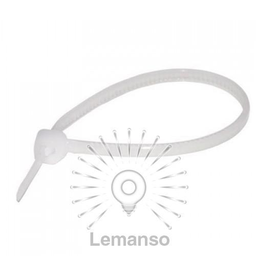 Кабельные стяжки Lemanso 60x2,5мм белые (100шт.)
