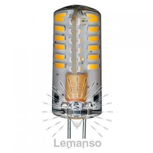 Лампа Lemanso св-ая G4 48LED 2,5W 170LM 4500K 230V 3014SMD силикон / LM327