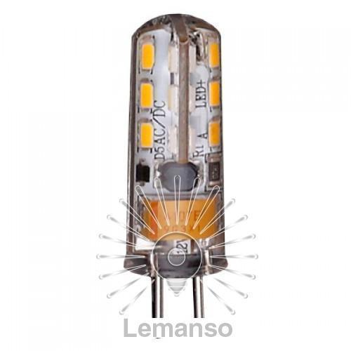 Лампа Lemanso св-ая G4 24LED 1,5W 230V 120LM 3000K 3014SMD силикон / LM349