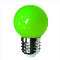 Лампа Lemanso св-ая G45 E27 1,0W 5LED зелёный шар / LM357