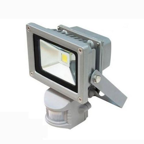 Прожектор LED 10w 6500K IP65 1LED LEMANSO сірий з датчиком / LMPS10