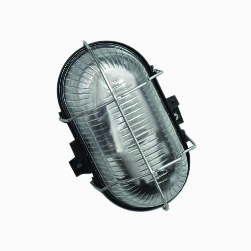 Свет-к LEMANSO овал метал. реш. 60W чёрный BL-1412 + защелка черный