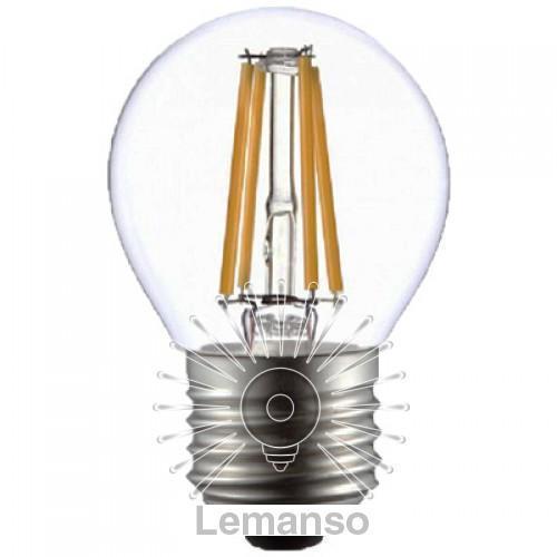 Лампа Lemanso св-ва G45 E27 4W 4LED 420LM 4500K / LM389 куля