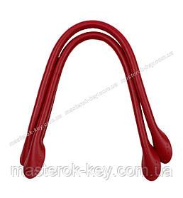Кожаные ручки для сумок пришивные 40см цвет Красный