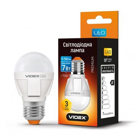 LED лампа VIDEX G45 7W E27 4100K 220V (VL-G45-07274)