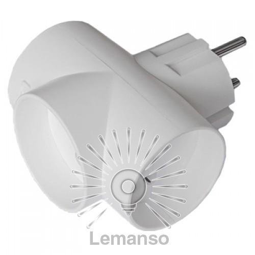 Тройник без заземления Lemanso белый / LMA038