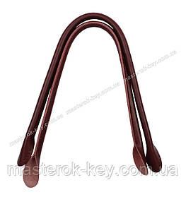 Кожаные ручки для сумок пришивные 50см цвет Бордовый