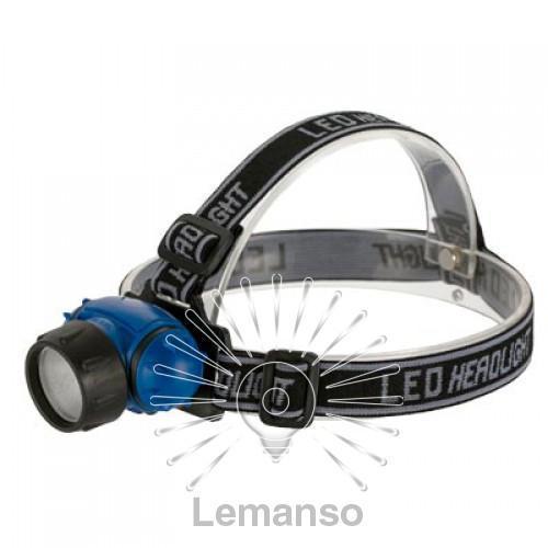 Фонарик LEMANSO COB на голову / LMF43 пластик