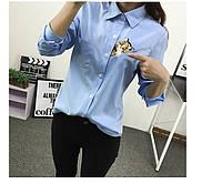 Стильная рубашка  с котиком, фото 1