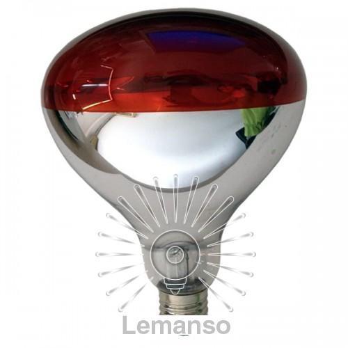 Лампа инфракрасная Lemanso 250W E27 230V на половину красная / LM3011 гарант. 6мес