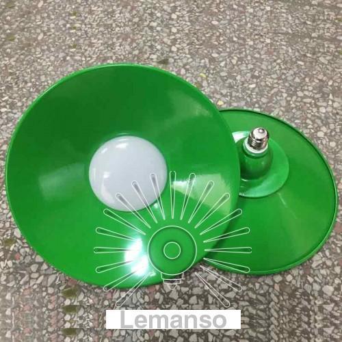 Лампа Lemanso LED IP65 + метал. отражатель 36W E27 2880LM 6500K зелёный/ LM711