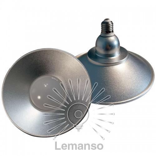 Лампа Lemanso LED IP65 + метал. отражатель 18W E27 1440LM 6500K серебро/ LM709