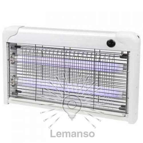 Светильник от комаров T8 2x15W Lemanso LMN105 серебро