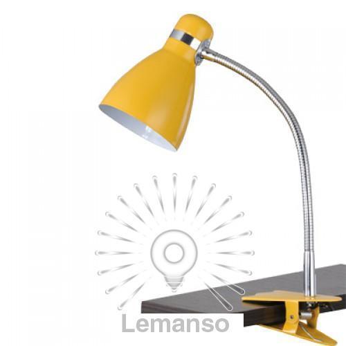 Настольная лампа Lemanso 60W E27 LMN103 жёлтая