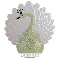 Ночник Lemanso Павлин 4 LED*RGB с сенсором бежевый / NL15