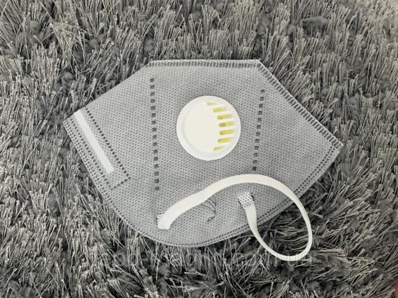 Защитная маска респиратор с угольным фильтром KN95 (с уровнем защиты 95% - PM 2.5 ) многоразовая Цена за 10 шт, фото 2