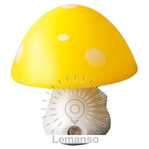 Ночник Lemanso Гриб 3 LED 6500K с сенсором жёлтый / NL16