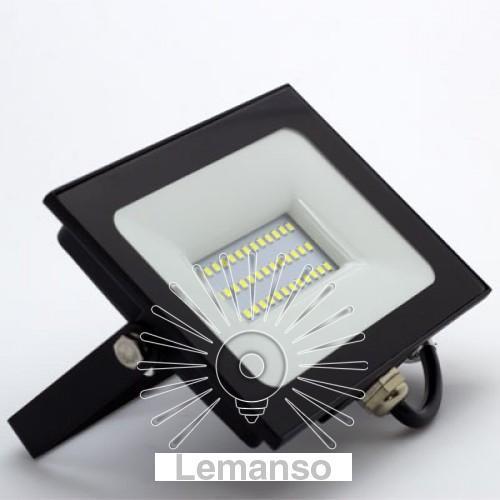 Прожектор LED 30w 6500K IP65 2400LM LEMANSO чорний/ LMP9-32