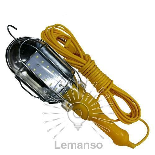 Переноска гаражная LED 7W 600Lm 10м желтая Lemanso / LMA312