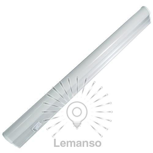 Светильник Lemanso 8W T5 6500K 580LM + выключ + 13,5cм сетевой шнур без вилки/ LM963-8