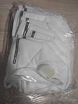 Защитная маска респиратор с угольным фильтром KN95 (с уровнем защиты 95% - PM 2.5 ) многоразовая Цена за 10 шт, фото 3