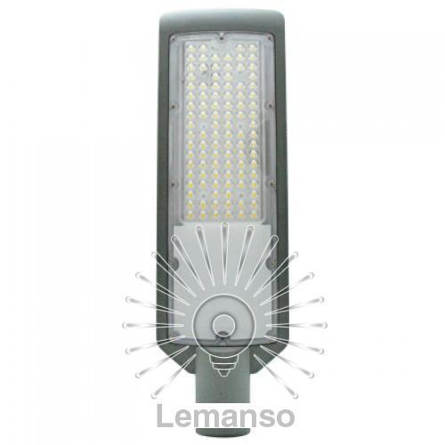Св-к на столб SMD Lemanso 100W 10000LM 6500K 4KV серый/ CAB61-100