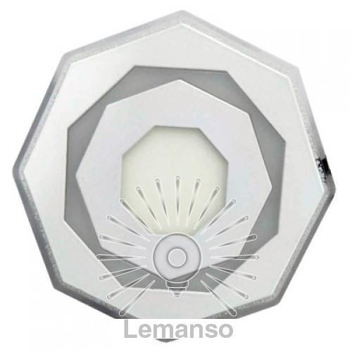 LED панель 3 цветная Lemanso 3+3W 350Lm 6500K 175-265V / LM1021 круг бел(6500K)/бел(4500K)/роз
