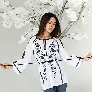 Вышитая белая женская блуза Катерина