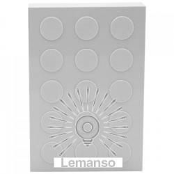 Механический звонок динг–донг Lemanso 230V LDB30 большой белый