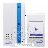 Звонок Lemanso 230V LDB49 белый с синим, фото 1