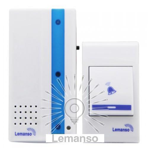 Звонок Lemanso 230V LDB49 белый с синим