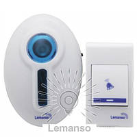 Звонок Lemanso 230V LDB45 белый с синим