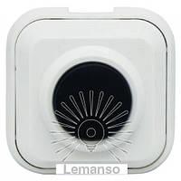 Кнопка звонка Lemanso LDB37 белая, фото 1