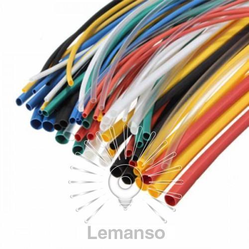 Трубка термоусадочная D=2,0мм/1метр LEMANSO коэф. усадки 2:1 зелёная отгрузка от 10 штук