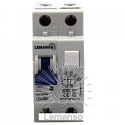 Дифференциальный автомат Lemanso 6.0KA 1п+н 40A 30mA RCBO LBO60