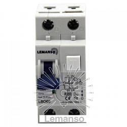 Дифференциальный автомат Lemanso 6.0KA 1п + н 32A 30mA RCBO LBO60