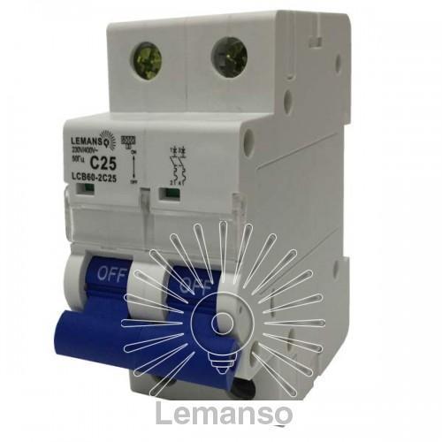 MCB Lemanso 6.0 KA (тип С) 2п 20A LCB60