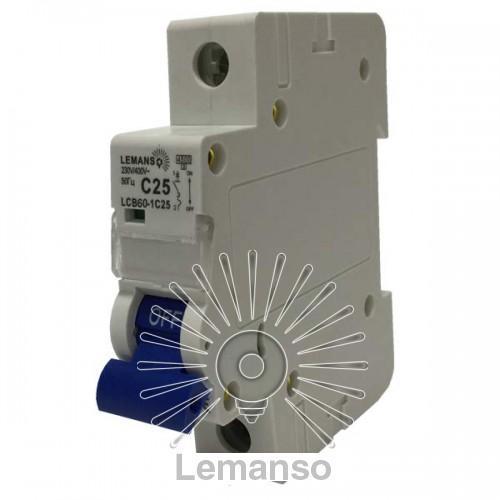 MCB Lemanso 6.0 KA (тип С) 1п 16A LCB60