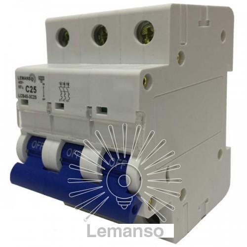 MCB Lemanso 4.5KA (тип С) 3п 25A LCB45