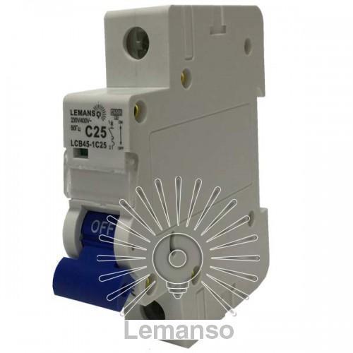 MCB Lemanso 4.5 KA (тип С) 1п 16A LCB45