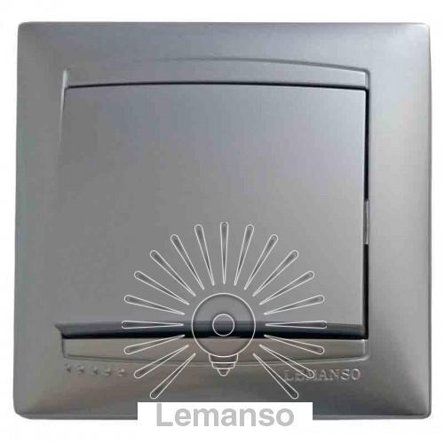 Вимикач 1-й LEMANSO Сакура срібло LMR1301