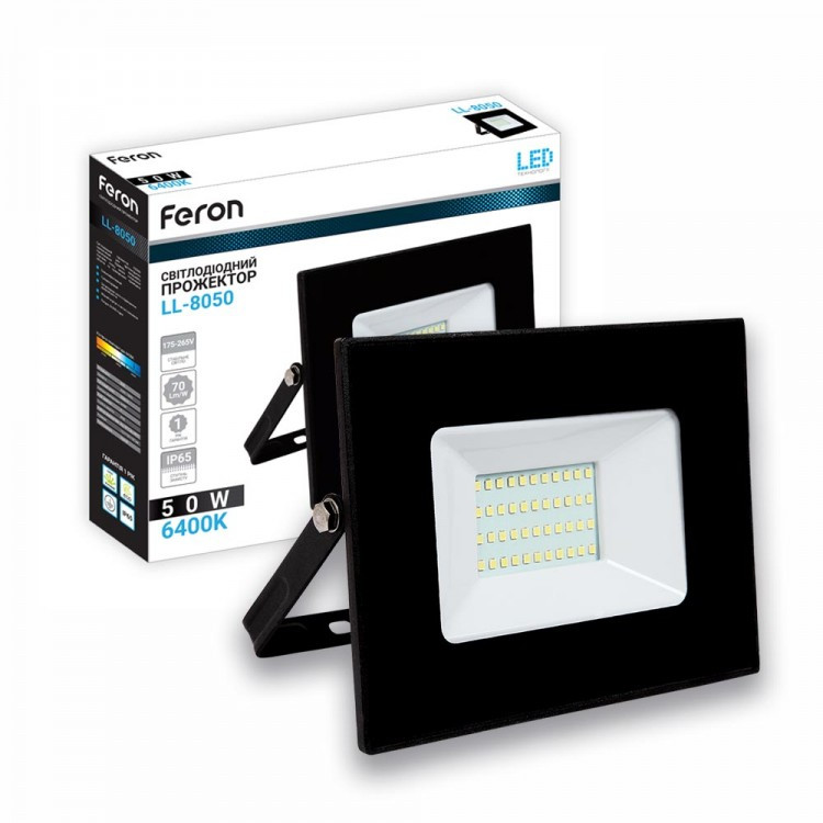 Светодиодный прожектор Feron LL-8050 50W